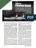 Build This Plywood Kayak