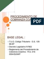 Procedimiento de Cobranza Coactiva2013