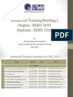 Industrial Training Briefing Part 1-Degree & Diploma-For ISO