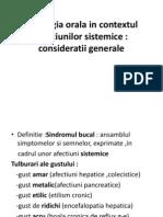 Patologia Orala in Contextul Afectiunilor Sistemice