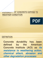 Durability of Concrete Expose to Weather Condition
