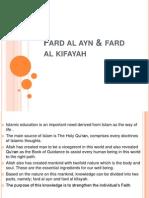 Fard Al Ayn & Fard Al Kifayah
