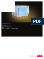 630 Series Operation Manual