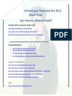 Usefull Websites for MA-Final Social Work, UOP-By Imran Ahmad Sajid