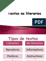 introducion tex.no literarios 8°