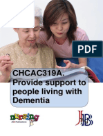 CHCAC319A Provide Support to People Living With Dementia WBK