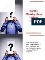 Parent Ministry Ideas - Whose Father