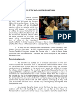 Synopsis of the Anti Political Dynasty Bill
