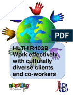 HLTHIR403B Work Effectively With Culturally Diverse Clients & Coworkers WBK