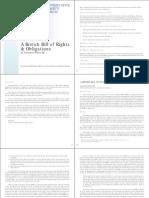 A British Bill of Rights & Obligations