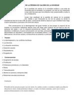 CAUSAS Y CONSECUENCIAS DE LA PÉRDIDA DE VALORES DE LA SOCIEDAD VENEZOLANA.docx