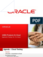 Application Testing on Cloud