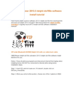 Delphi Scanner 2013.3 Delphi Ds150e Software Install Tutorial