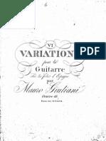 Op 45 Six Variations Sur Les Folies d Espagne