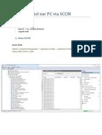 ajout logiciel sur pc via sccm