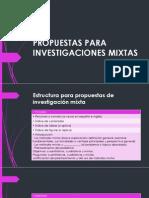Propuestas Para Investigaciones Mixtas