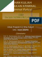 Bahan Kuliah Kebijakan Kriminal s2.