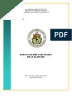Manual Preguntas Más Frecuentes de la Facultad - 2009
