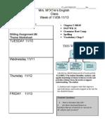 Agenda Week 14