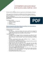 Panduan Interpretasi Radiografi Prof Hanna Kelompok i 2010