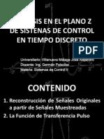 Analisis en El Plano z de Sistenas Dejose