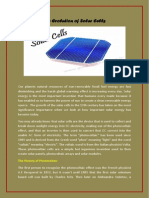 The Evolution of Solar Cells