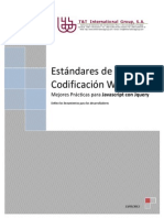 Documento de Estandares de Codificación en Jquery