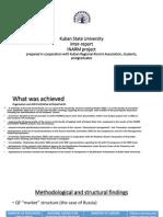 Kuban State University inter-report INARM project