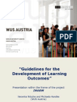 Guidelines for the Development of Learning Outcomes