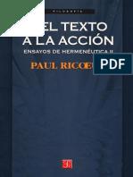 Ricoeur Paul - Ensayos de Hermeneutica II - Del Texto a La Accion