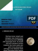 PPT Fenomena Astronomi Bumi, Bulan, dan Matahari