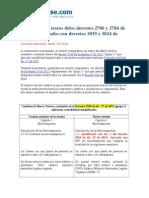 Cambios Textos Decretos 2706 y 2784 de 2012 Efectuados Con Decretos 3019 y 3024 de 2013