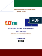 EU Market Access Requirements