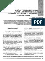 Micro Empresas Industriales y Su Participacion en El Comercio Internacional