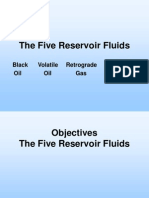 Five Reservoir Fluids