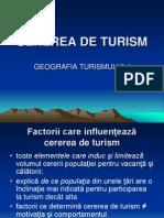 Cererea de Turism