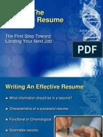 Presentation on Resume Writing