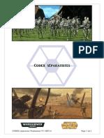 CODEX séparatistes Warhammer V5  GEF1.6