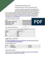 SBI Clerk Exam 2014 Date Notification Preparation, No. of Vacancies- SBI Recruitment 2014