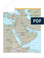 CIA - World Factbook - Reference Map - middle east
