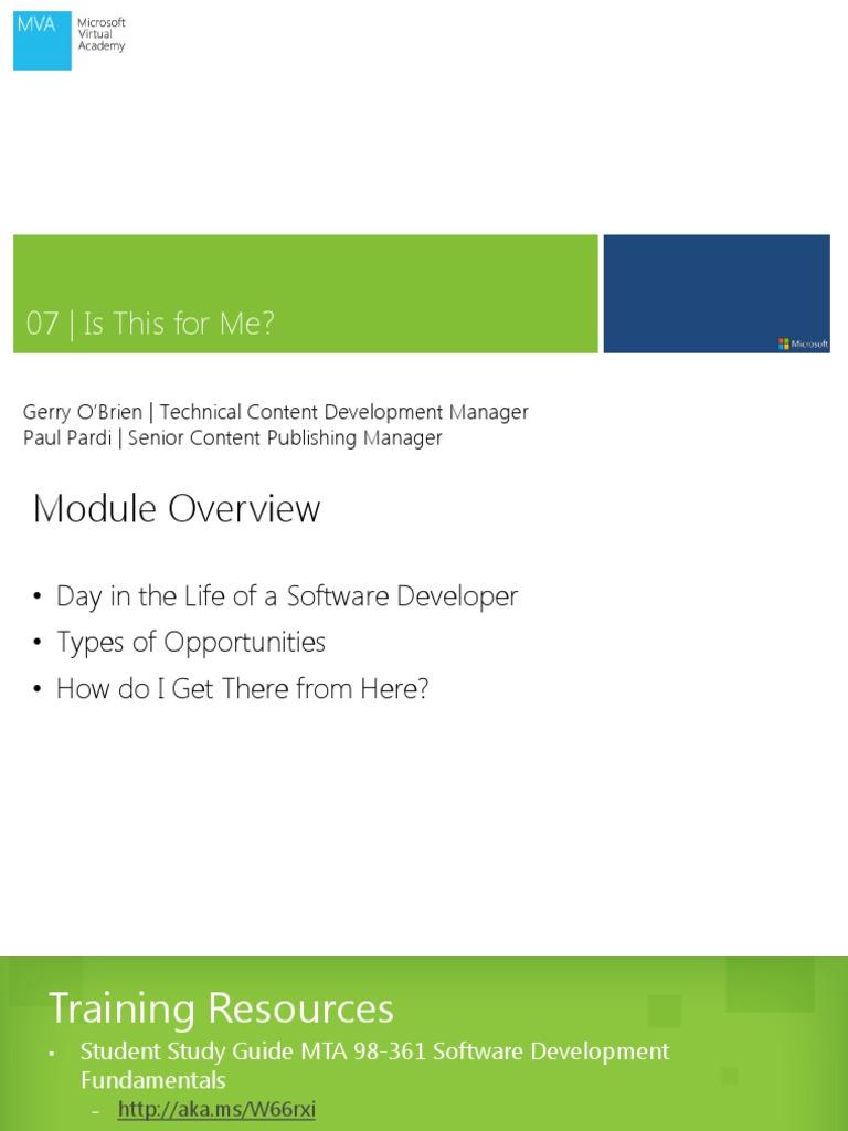 Mva software development fundamentals mod7 1betcityfo Gallery