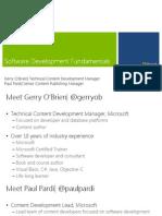 MVA Software Development Fundamentals Mod1
