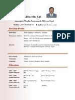 Dr.jibachha Sah Latest Biodata