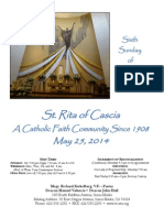 St. Rita Parish Bulletin 5/25/2014