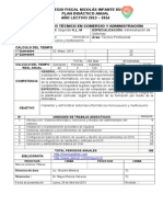 Planificacion Curricular Sistema Informatico Monousuario y Multiusuario II Bachillerato Nid 2013mj