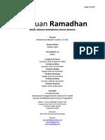 Panduan Ramadhan 1435 H Muhammad Abduh Tuasikal Revisi 12 Rajab 1435 H
