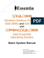 Essentia Wifless ESS PN25x (HW All) & ESS 2456x (HW 2.1x) Basic System Manual - OpenWifless ESS ProNODE Ver 1.45 - 20090120