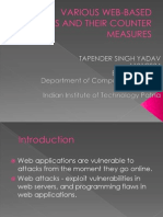 Various Web-based Attacks and Their Countermeasure