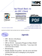 Using Visual Basic With Opc