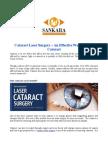 Cataract Laser Surgery – An Effective Way to Treat Cataract